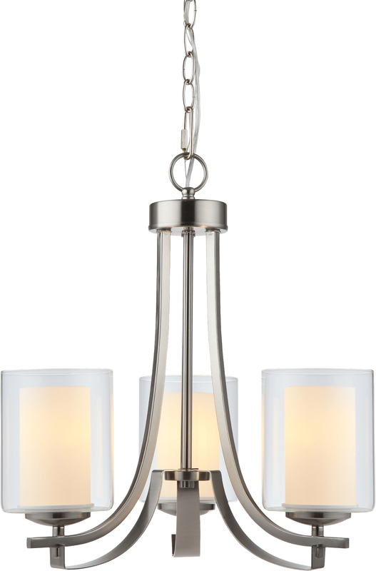 Comes With Clear And White Glass Uses 3 60 Watt E26 Medium Base Bulbs Light Are Not Included Fixture Has Foot Chain 7 Wire